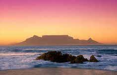 Table Mountain was declared 1 of the & 7 Natural Wonders of the World& in Oh The Places You'll Go, Places To Travel, Places To Visit, Cape Town Photography, Table Mountain Cape Town, Beautiful World, Beautiful Places, 7 Natural Wonders, Surf