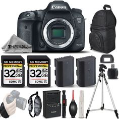 Canon EOS 7D Mark II Digital SLR Camera Built-In GPS & Compass Full HD 1080p Body + 2 Of 32GB Memory Card + Backup Battery + . All Original Accessories Included - International Version. This TriStateCamera Listing comes complete with Manufacturer's Supplied Accessories and a One Year Seller Supplied Warranty. Canon EOS 7D Mark II DSLR Camera. Product Highlights;. 20.2MP APS-C CMOS Sensor, Dual DIGIC 6 Image Processors, Full HD 1080p/60 Video, 10 fps Shooting at Full Resolution. Built-In…