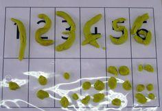 Les nombres en pâte à modeler