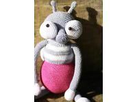 Amigurumi,gehäkelte Fliege.Häkeln.Handarbeit.Häkeltier.handmade