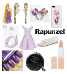 """""""Rapunzel"""" by katgirljeni ❤ liked on Polyvore featuring York Wallcoverings, Chi Chi, Bando, Casetify, Chanel and Rimmel"""