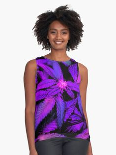If you are a fan of pretty colors and unique decorative prints then you will love our Trendy Psychedelic and Cool Cannabis Marijuana Pot Leaves Happy 420 Print. Perfect for home decor and fashion. Purple Outfits, Girly Outfits, Pink Fashion, Fashion Dresses, Blouses For Women, Women's Blouses, Edgy Dress, Pretty Shirts, Psychedelic