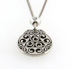 Buy Handmade Celtic Design Triskele Spiral Pewter Chain Pendant in ...