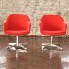 Steelcase Chair Red Set, $625, now featured on Fab.
