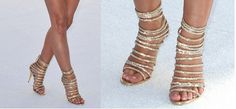 Chaussure Femme Gold Metallic Sequined Caged High Heel Sandals Open Toe Ladies Party Shoes Women Gladiator Rhinestone Sandals