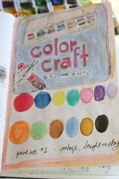 Pam Garrison is making a cool journal about her watercolors collection.  Each page is completely different and there are many on this blog post.