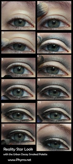 Urban Decay Reality Star Look with the Smoked Palette. Click through to see more!