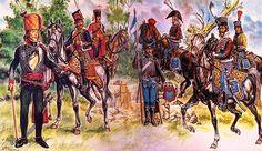 """""""Officiers de Hussards"""", Liliane et Fred Funcken"""