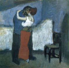 Pablo Picasso, Embrace, 1900, oil on cardboard, Pushkin Museum of Fine Art, Moscow, Russia