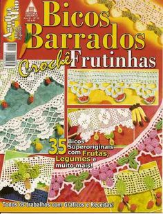 Crochet Knitting Handicraft: Bicos barrados frutinhas