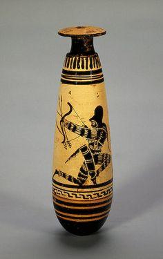 Alabastron: Warriors, Circa 470 BCE,        Ancient Greece  The Hermitage Museum