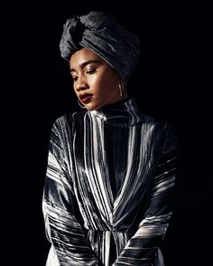 Dress by J.W. ANDERSON Turbans, Headscarves, Beautiful Inside And Out, Black Is Beautiful, Yuna Zarai, Halle, Seraphina Picquery, Urban Hairstyles, Gowns
