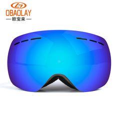 Ski Goggles Anti-UV400 Big Mask Anti-Wind Glasses Professional  Skiing Eyewear Men & Women Mountaineer Snowboard Goggles
