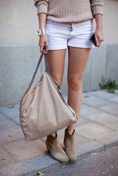 white shorts. :)
