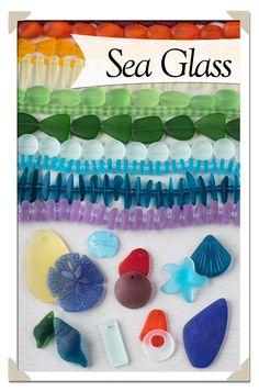 Sea Glass at www.cherrytreebeads.com