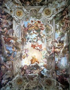 Pietro da Cortona Glorification of the Reign of Urban VIII, or, Triumph of the Barberini ceiling fresco, 1630s Palazzo Barberini, Rome