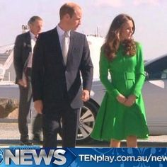 4/24/14 William & Kate begin their day of engagements in Canberra, Australia.