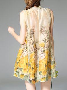 Shift Sleeveless Vintage Mini Dress