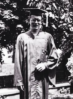 """""""James Dean, after his high school graduation in Fairmount, 1949. He received school prizes for his achievements in dramatics, art, and athletics. Academically he was placed 20th out..."""