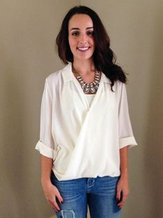 Wrapped Collared Top - Wit & Whimsy