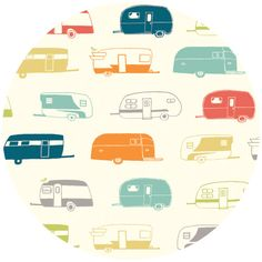 Jay-Cyn Designs for Birch Organic Fabrics, Just For Fun, Camper Multi