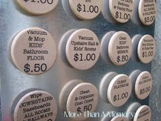 Instead of giving kids an arbitrary allowance, they can pick what tasks they want to do and earn as much money as they choose. Dave Ramsey talks about this...very cool. may have pinned it before but so cool. Crafts For Kids, Activities For Kids, Diy Crafts, Family Crafts, Creative Crafts, Creative Ideas, Educational Activities, Chore Magnets, Chore System