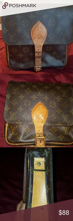 Authentic Louis vuitton Authentic Louis Vuitton bag this was a cross body cartouchiere  but as it is old and is broken one handle but you can use like a clutch look the pictures for more details or ask any question. Louis Vuitton Bags Clutches & Wristlets