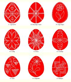 Egg patterns from Gyimes - Hungarian folk art motifs