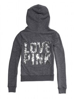 This is what happens when I go to the mall, this was so cute in person! Victoria's Secret PINK® Bling Perfect Zip Hoodie #VictoriasSecret http://www.victoriassecret.com/pink/tops/bling-perfect-zip-hoodie-victorias-secret-pink?ProductID=71035=OLS?cm_mmc=pinterest-_-product-_-x-_-x