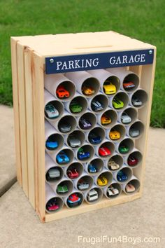 DIY parkiing garage for hot wheels cars #toys #kids