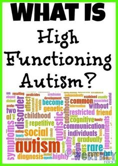 What is high functioning autism? Click through to read more! A Worthey Read