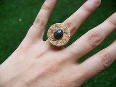 DIY Anillo corcho - Cork ring DIY