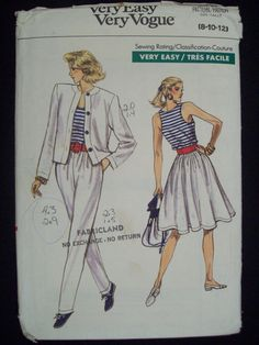 Vogue 7167 Misses LooseFittingUnlined by Noahslady4Patterns, $5.75