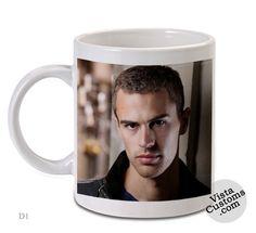 Theo James Four Divergent, Coffee mug coffee, Mug tea, Design for mug, Ceramic, Awesome, Good, Amazing