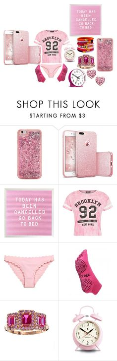 """""""PINK PHONE - GO BACK TO BED"""" by michelle858 ❤ liked on Polyvore featuring ban.do and Newgate"""