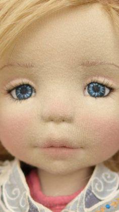 Waldorf Doll stitched eyes
