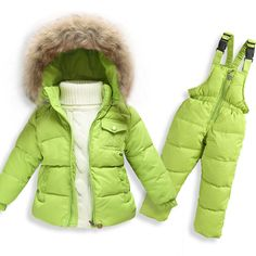 bf240f064d0e Winter Suits for Girls Boys Children Clothing Sets Baby Snow Jackets ...