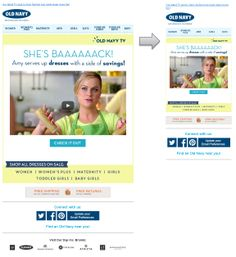 Responsive Email Design from Old Navy