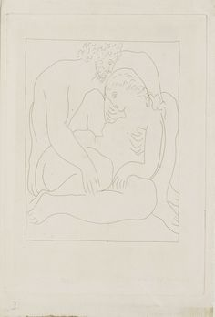 blue-voids:  Pablo Picasso - Loves of Jupiter and Semele, from...