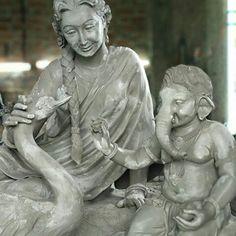 Ganesh Statue, Shri Ganesh, Krishna, Clay Ganesha, Ganesha Art, Ganesh Chaturthi Images, Manoj Kumar, Ganesh Idol, Ganesh Images