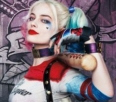 Margot Robbie as Harley Quinn From the Movie Suicide Squad - Gotham Wall Art artwork available on over 30 different products from home styling to fashion and phone cases Harley Quinnn, Harley Quinn Et Le Joker, Harley Quinn Cosplay, Actriz Margot Robbie, Margot Elise Robbie, Margot Robbie Harley Quinn, Morgot Robbie, Fete Halloween, Halloween Costumes