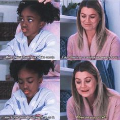 Grey's Anatomy Moment Zola & Meredith #grey'sanatomymemes