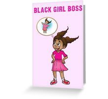 Wish them a very happy birthday full of the things they love with black girl boss mia the 8 year old business owner pink greeting birthday party card bookmarktalkfo Images