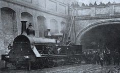 The only known photograph of Fowler's Ghost, a locomotive intended to run through the tunnels of London's Metropolitan Railway without emissions, using heat stored in firebricks.