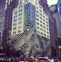 Post Style- New Yayoi Kusama installation at Louis Vuitton store on Ave, NYC Yayoi Kusama, City Architecture, Fashion Architecture, Amazing Architecture, Louis Vuitton Store, Urban Street Art, Public Art, Abstract Expressionism, Installation Art