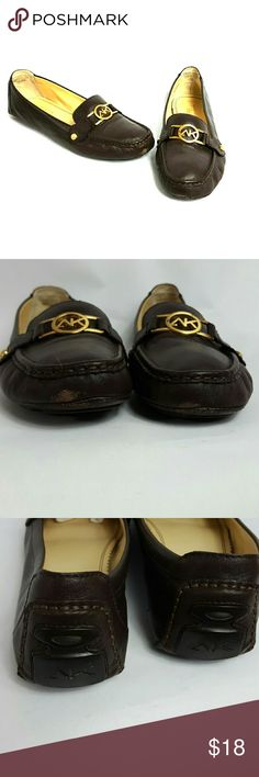 AK Anne Klein iflex size 10 Condition 8/10, size 10, leather, dark brown,  some scuffs, check picture 2,  otherwise in great shape,still wearable, if you have any questions or you want to request more pictures, don't hesitate to ask me. Thanks for your time. Anne Klein Shoes Flats & Loafers