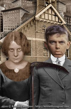 American Gothic -- surreal digital collage artwork -- by Kenneth Rougeau