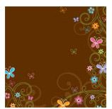 Doodlebug Design - Teen Girl Collection - 12x12 Accent Paper - Flutterby at Scrapbook.com $0.66