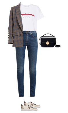 """Untitled #420"" by silverquarts on Polyvore featuring rag & bone, Yves Saint Laurent, Veronica Beard, Golden Goose and Marni"