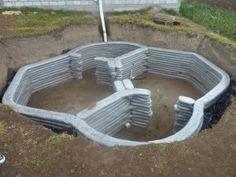 Casita soterrada de domos hexagonales en superadobe